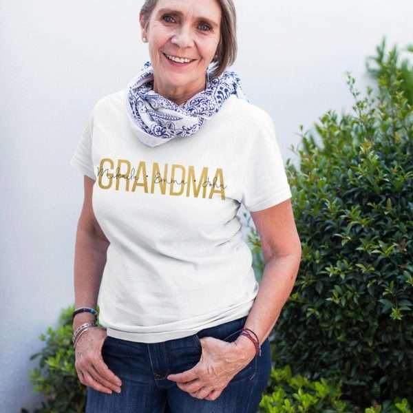 Personalized Grandma Shirt, Custom Grandkids Names Shirt, Mother's Day Gift