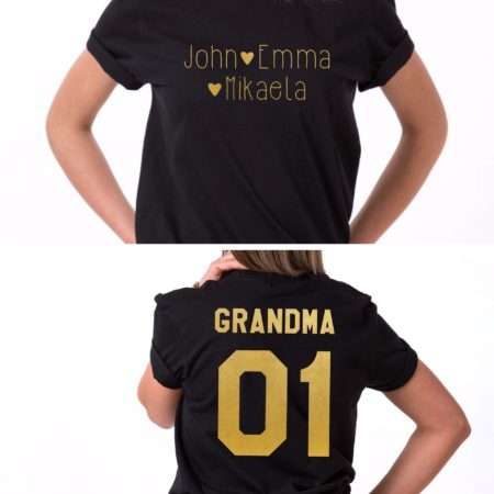 Custom Gift for Grandma, Grandma 01 Shirt, Custom Kids Names Shirt