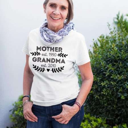 Pregnancy Reveal Grandma Shirt, Mother Est Grandma Est Shirt, Mother's Day Gift