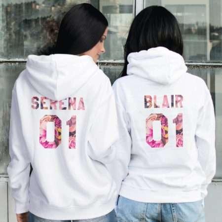 Serena Blair Funny Hoodies, Patterns, Matching Best Friends Hoodies