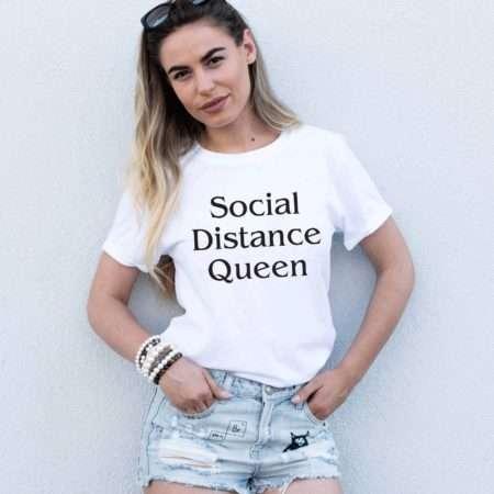 Social Distance Queen Shirt, Quarantine Shirt, Social Distance Shirt