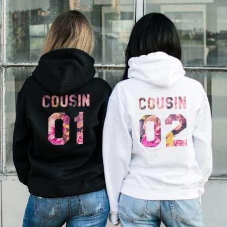 Cousin Matching Hoodies, Patterns, Matching Best Friends Hoodies