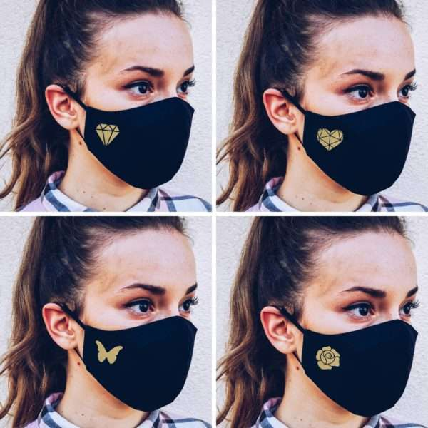 Custom Symbol Face Mask with filter pocket, filter included